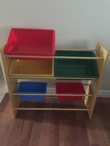 Toy bins and shelves