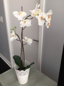 Artificial orchid potted plant 25 inch tall