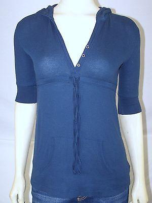 Arizona Blue Hoodie Elbow Sleeve Sweatshirt Juniors Size XS 00 1 Elbow Sleeve Hoodie