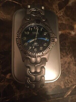 Fossil Titanium Watch 40mm Round Face 200M Water Resistant Brand New RARE!