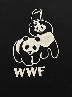 Used, WWF Panda Shirt World Wrestling Federation vs World Wildlife Fund Size XL for sale  Martinez