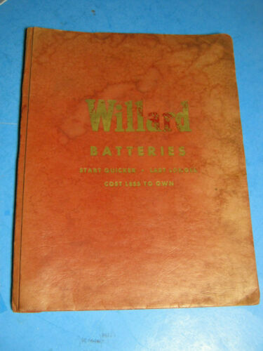 1956 WILLARD BATTERY CATALOG  BROCHURES 62 PAGE DEALER KIT SALES ORIGINAL