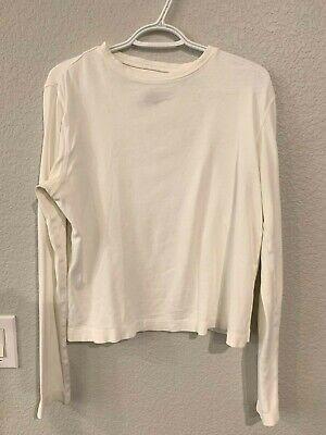Patagonia long sleeved soft cream 100% organic cotton base layer shirt