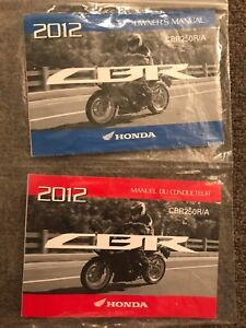 Honda CBR250R/A owners manual English and French editions