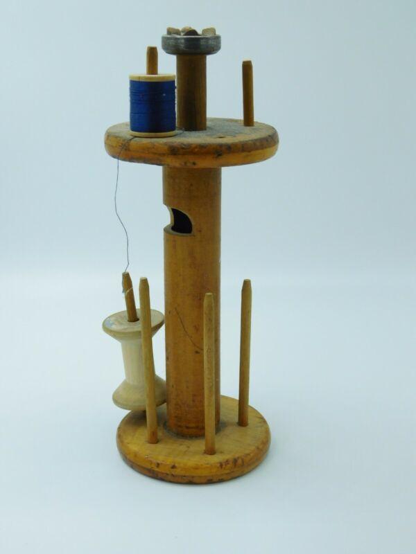 Wonderful Vintage Weaving Spindle Converted to Sewing Spool Holder