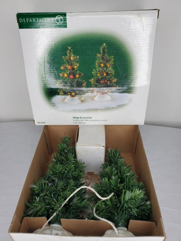 Department 56 Village Accessories Frosty Light Trees #5652844 Fiber Optic WORKS