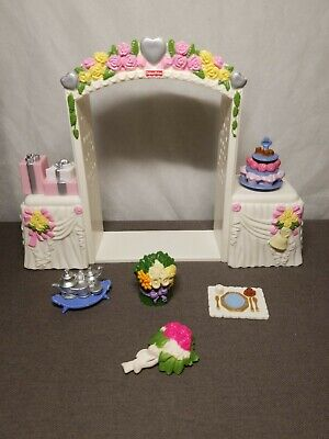 2008 Fisher Price Loving Family Dollhouse Wedding Lot