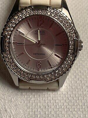 Guess  Woman's White Watch