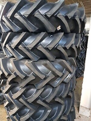12.4x28 2 Tires 2 Tubes Road Crew Ndr 12.4-28 12 Ply 12428 High Quality