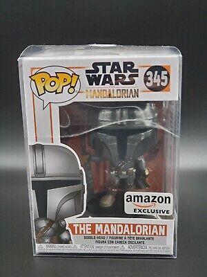 Funko POP! Star Wars The Mandalorian Beskar Chrome Amazon Exclusive + Protector