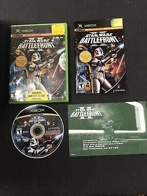 Star Wars BATTLEFRONT II 2 Original XBOX Complete w/ Manual & Disk Excellent