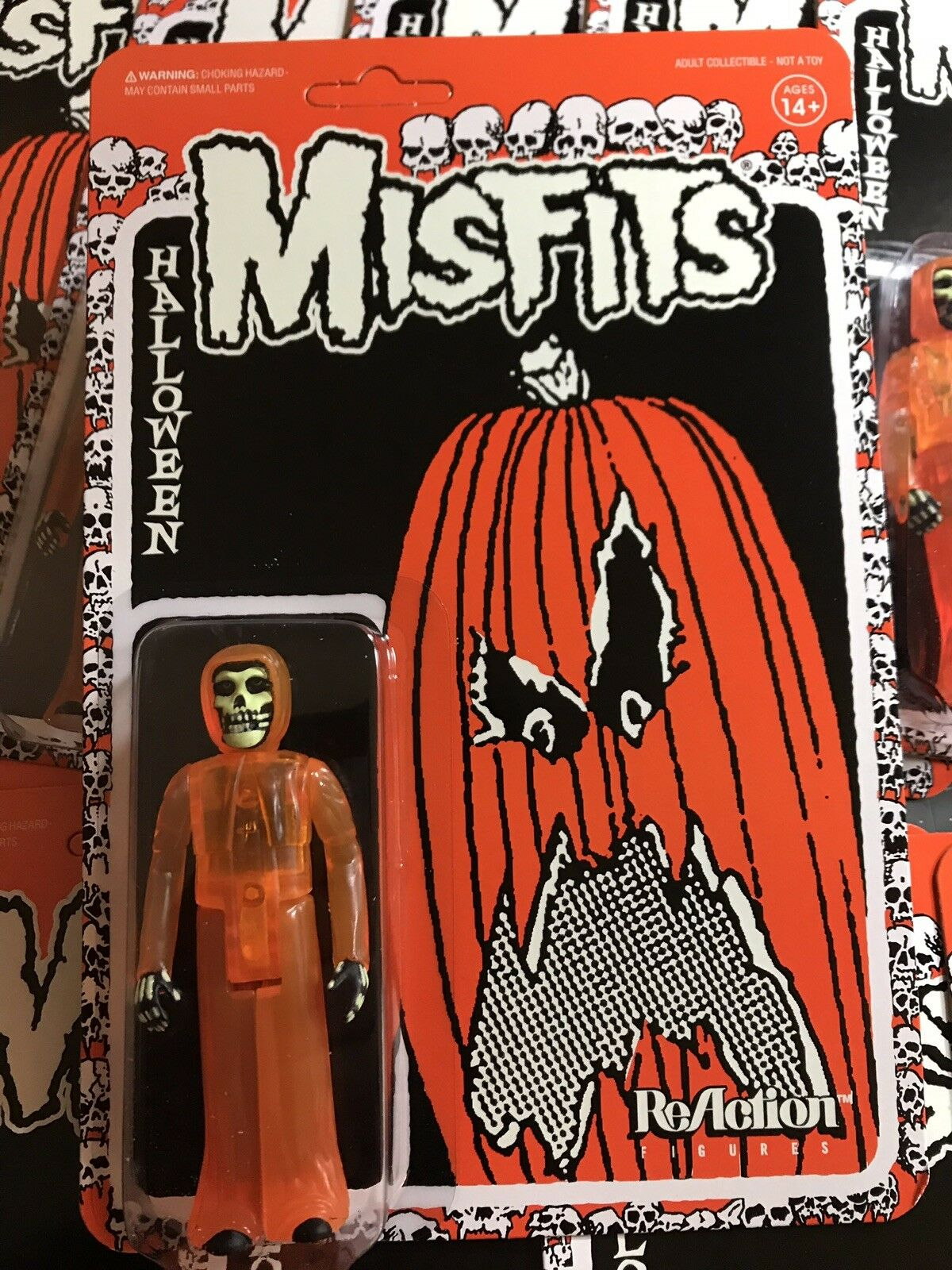 Купить Super7 - The Misfits HALLOWEEN ORANGE Fiend Super7 ReAction Figure Danzig NYCC SDCC