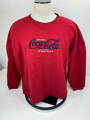 Vintage Coca Cola Crew Neck Sweatshirt Red Size 26/28W