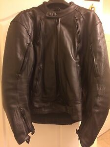Motorcycle Leather Jacket with Kevlar
