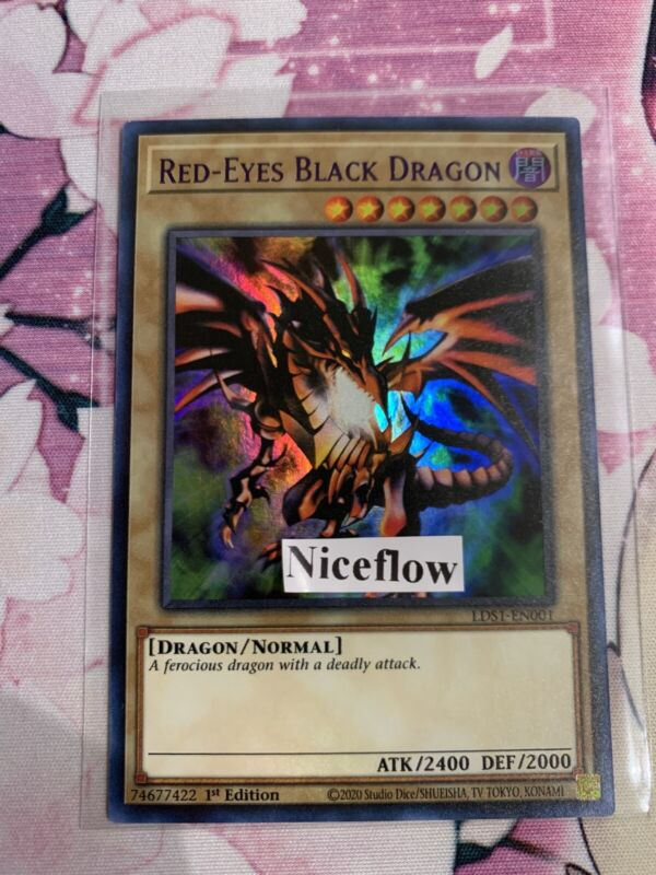 RED-EYES BLACK DRAGON ULTRA RARE LDS1-EN001 (PURPLE) YUGIOH