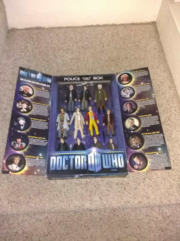 """DOCTOR WHO BBC THE ELEVEN DOCTORS FIGURE SET 5"""" Adult Collector"""