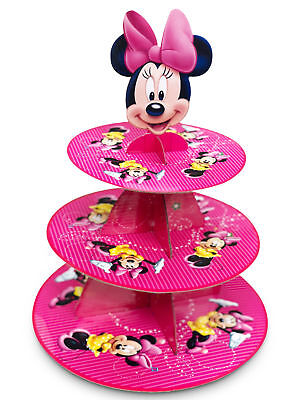 Minnie Mouse 3-Tier Cupcake Stand Girls Party Cup Cake Decorations Baby Shower - Minnie Mouse Cake Stand