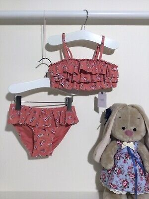 Next 2tlg Bikini Badeanzug Tankini Sonnenschutzanzug Rosa Gr 92/98 2-3 Jahre