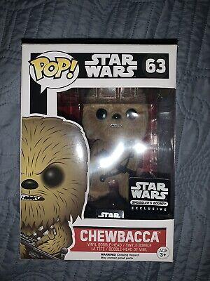 Smugglers Bounty Exclusive Funko Star Wars POP #63 Chewbacca (Flocked).
