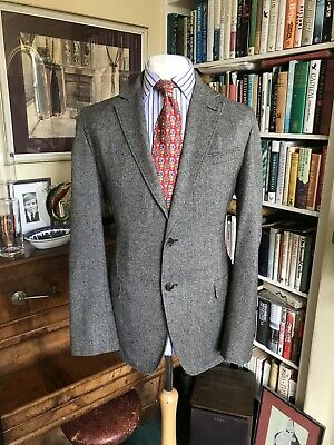 Brooks Brothers Herringbone Tweed Unlined Jacket