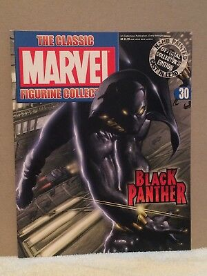 EAGLEMOSS CLASSIC MARVEL FIGURINE COLLECTION #30 BLACK PANTHER (MAGAZINE ONLY) for sale  Paramus