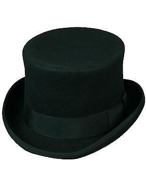 Zylinder Made in England Wolle Schwarz Top Hat Black Tophat Wool Hut  5005