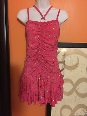 Hot pink dance costume, Tap, Jazz, Adult L XL, NEW, free ship
