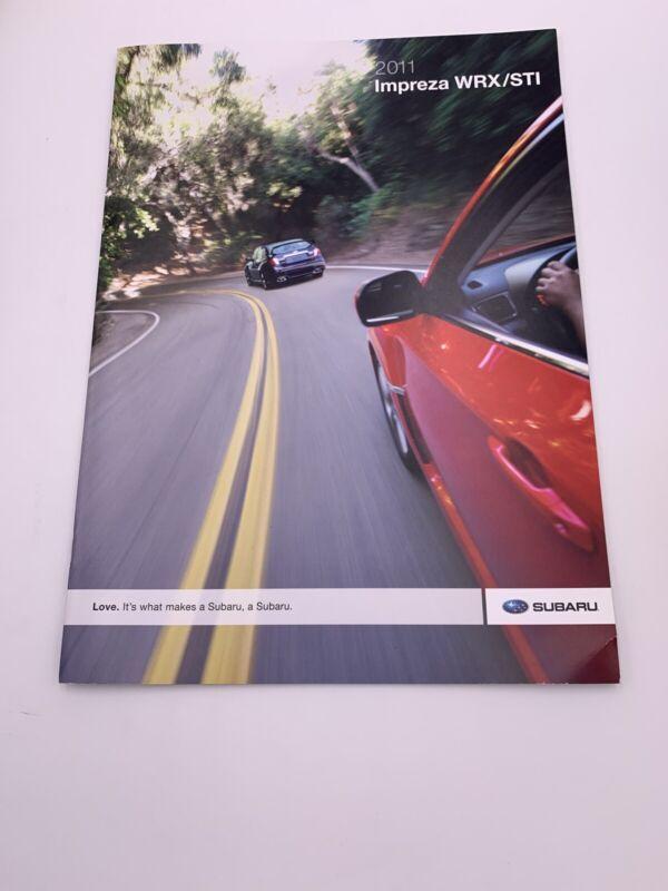 2011 11  Subaru Impreza WRX / STI original sales brochure