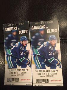 Canucks vs Blues Dec 23 7pm