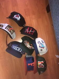 LOT OF VINTAGE SNAPBACKS FOR CHEAP!
