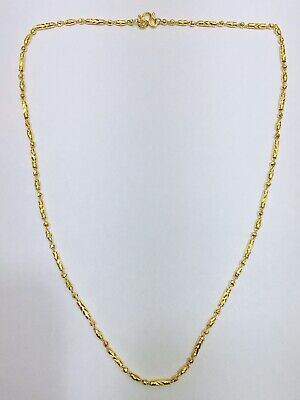 """24k Pure Yellow Gold Diamond Cut Necklace. About  20"""". Weight 10.16 Grams"""