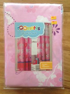 Girls tab top curtains