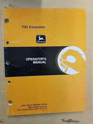 John Deere 70d 70 D Excavator Operators Owner Manual Omt135855