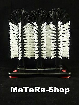 Gläserspülbürste 3x18 cm Gläser spülen Spülbürste Gläserbürste Gläserspüler