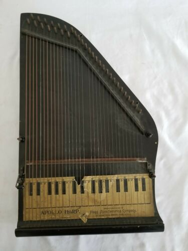 Antique 1895 Apollo Zither AutoHarp All Strings Lap Harp Flagg Music Instrument