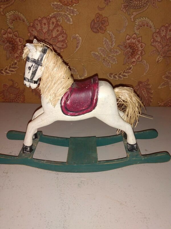 Decorative Carved Wooden Rocking Horse
