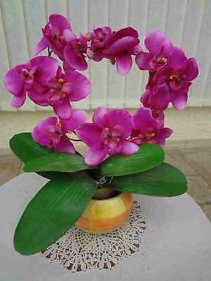 künstliche pflanzen bäume blumen deko Orchiden Kranz pink