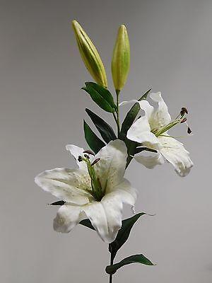 Lilie Tigerlilie Seidenblume Kunstblume weiß creme 85 cm 42305-05 F12