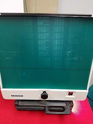 Vintage MINOX Microfilm Microfiche Reader Made In Germany