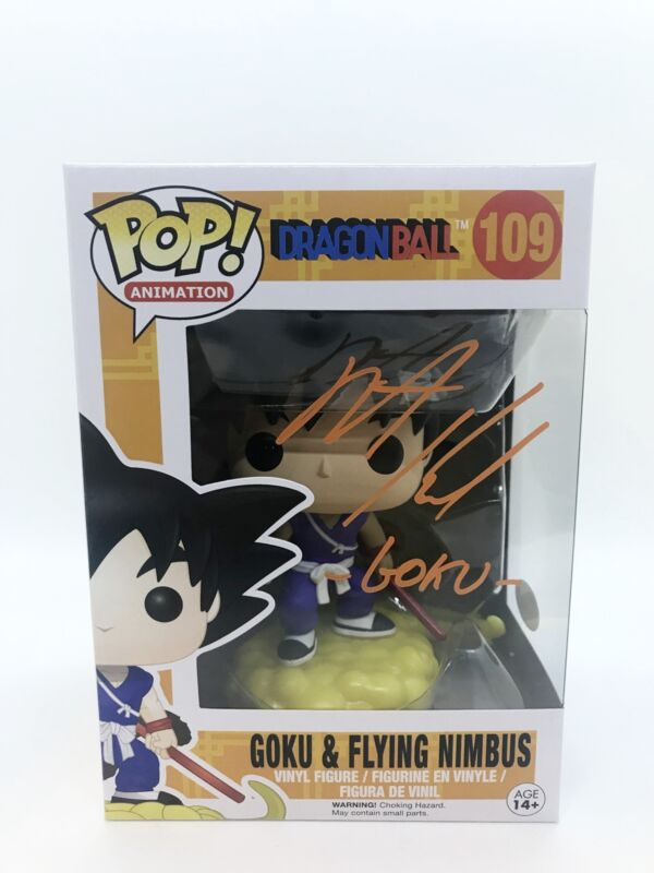 Peter Kelamis Autograph FUNKO POP Dragon Ball Z Goku Flying Nimbus Signed JSA