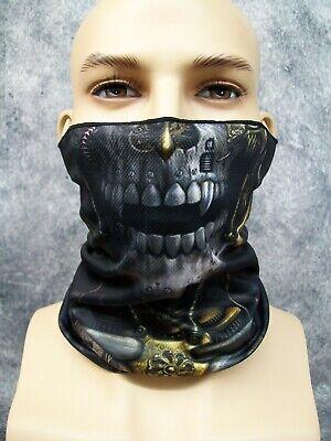 Steam Punk Skeleton Costume Face Mask Neck Gaiter Frankenstein Machine Vampire