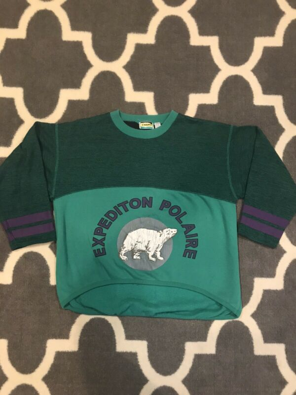 VTG 80s Womens Skate N Grunge Colorblock Long Sleeve Workout Sweatshirt