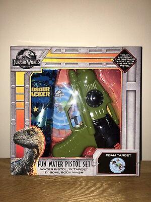 (Jurassic World Velociraptor Fun Water Pistol Bath Set *BRAND NEW*)