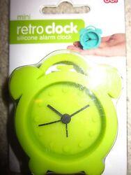 DCI Mini Retro Silicone Alarm Clock Green