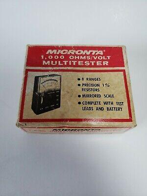 Vintage Radio Shack Micronta 1000 Ohmsvolt Multitester With Box No Black Cord