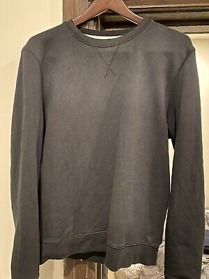 Kent & Curwen England Black Faded Sweatshirt Medium