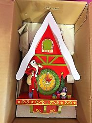 RARE NIGHTMARE BEFORE  CHRISTMAS CUCKOO CLOCK 2004 DISNEY NWB.