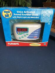 Playskool Voice Activated Sound Soother Clock w/ Night Light and Melodies