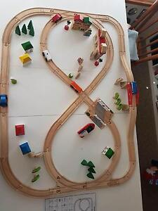 Wooden Train Set/Town Tapping Wanneroo Area Preview