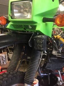 Kawasaki Klr650 led lights and mounting bracket